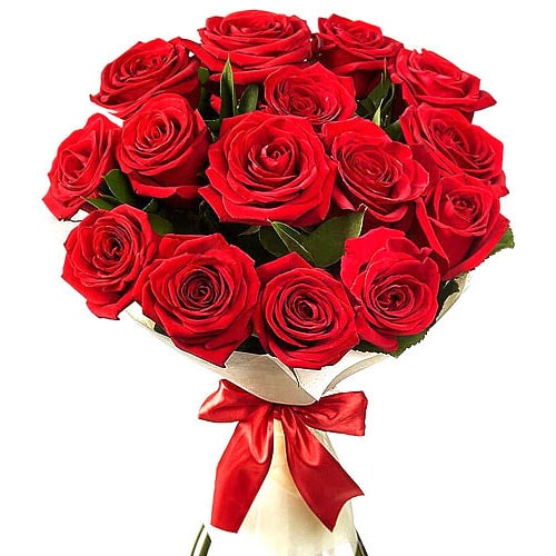 Captivating 12 Red Roses Bouquet with Romantic Thrill