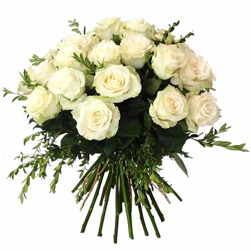 Passionate Perfect Elegance 24 Pure White Roses