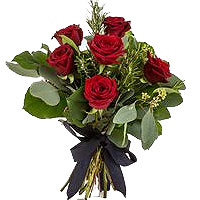 Fragrant Passionate Moments 6 Red Roses Bouquet