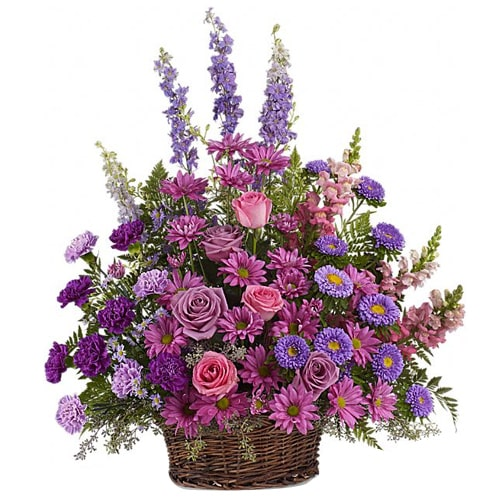 Artistic Multicolored Flower Basket