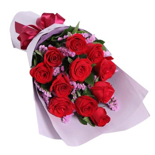 Modern Celebrate Love 12 Red Roses Bouquet