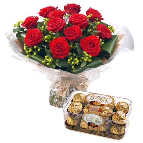 Pristine Love Delight Flowers and Chocolate Gift