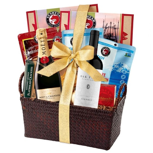 One-of-a-Kind Joy Forever Gourmet Hamper with Champagne