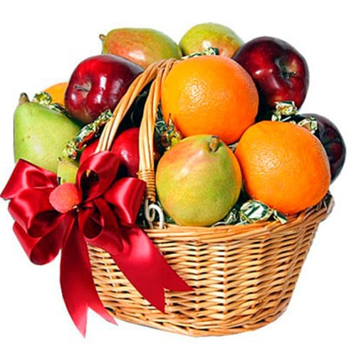 Memorable Time to Celebrate Mixed Tropical Fruits Basket