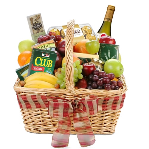 Fruits, Wine and Snacks