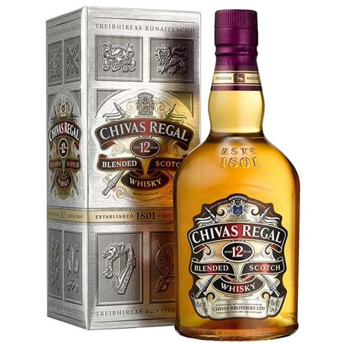 Smooth-Textured Chivas Regal 12 Year Old Scotch Whiskey (75cl)with Love