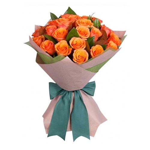 Fire Orange Roses