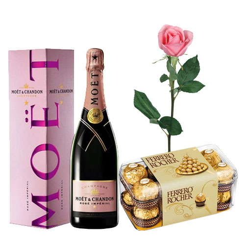 Moet and Chandon Rose Imperial, Pink Rose and Ferrero