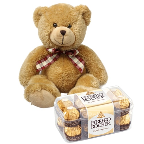 Amazing Ferrero Rocher Chocolates with Teddy