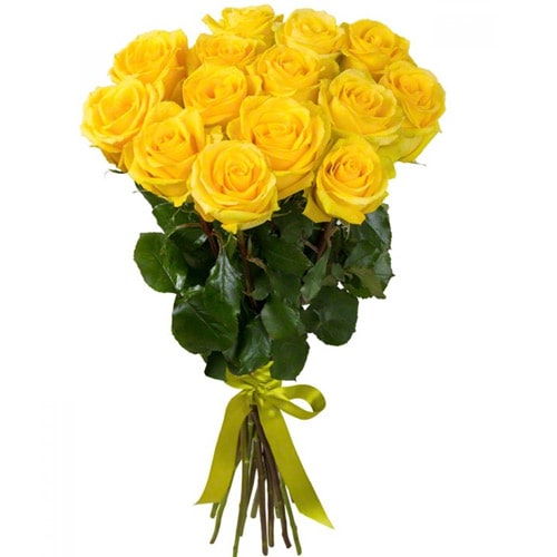 Color-Coordinated Bright Blush Yellow Roses Bouquet