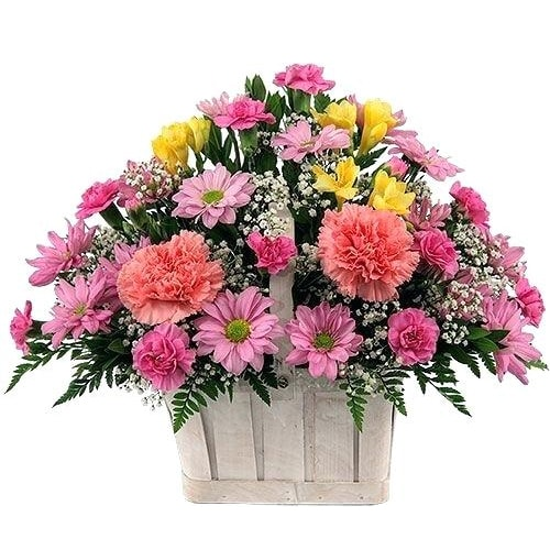 Breathtaking Forever in Love Seasonal Flower Basket